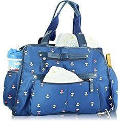 d1821b67ea197 Next Mommy Baby Diaper Bag with Changing Pad, Stroller Clips and Shoulder  Strap, Blue