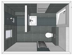 1000 images about inspiratie badkamer zolder on pinterest industrial workspace google and for Plan kleine badkamer