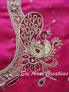 Image result for peacock embroidery blouse designs