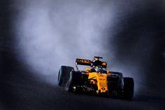 2017 Renault in wet testing.