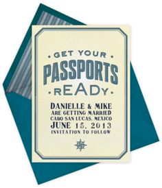 Paperless Post - Passport Ready - save the date