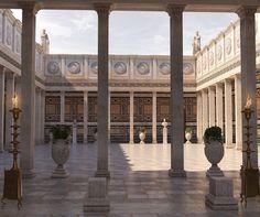 Architecture Antique, Architecture Classique, Greece Architecture, Ancient Greek Architecture, Brick Architecture, Classical Architecture, Historical Architecture, Residential Architecture, Byzantine Architecture