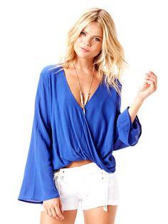 Blue Life: Hayley Top Long Sleeve cover up | Swimwear World