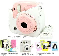 Fujifilm Instax Mini 8 Instant Camera Accessory Bundles Set (Included: White ... #Cameras #Photo #Film #Photography #CaiulBasicWhiteB4in1