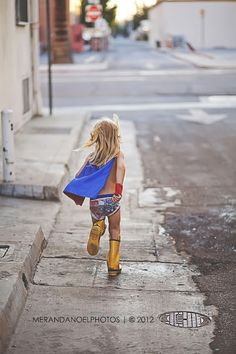 A tiny super hero! This is my favorite style of shooting kids