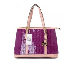 Cheap Michael Kors Women Amangasett Straw Large Purple Totes Outlet Online.