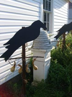 Black Crow Cut Out for the Garden