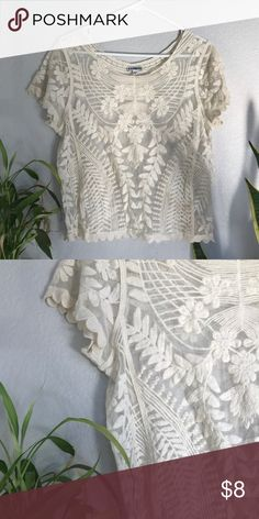 52f92b4cbbd SOLD ON DEPOP Off-white Ivory Lace Top Shirt