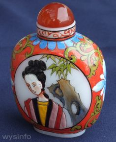 Japanese hand painted porcelain perfume bottles (private collection courtesy of Sara Tzadok