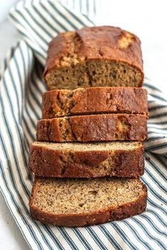 This Healthy One Bowl Banana Bread is made with white whole wheat flour, less butter and sugar but tastes just like your favorite banana bread. With or without chocolate chips/nuts. #bananabread #healthybaking #wholegrain