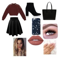 """""""Untitled #23"""" by mkl0820 on Polyvore featuring Yves Saint Laurent, Gucci, Lime Crime and Lacoste"""