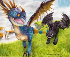 Stormfly and Toothless
