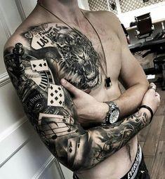 Resultado de imagem para Sleeve Tattoos #TattooIdeasMensSleeve