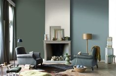 Find the perfect colour scheme for your home. New Living Room, Living Room Interior, Home And Living, Living Spaces, Interior Design Advice, Best Interior, Interior Inspiration, Sweet Home, Green Rooms