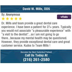 I recommend Dr. Mills to anyone who needs primary dental care. I've been a patient of. Dental Health, Dental Care, Hormone Replacement Therapy, Dental Surgery, Online Reviews, Orthodontics, Chiropractic, Massage Therapy, Weight Management
