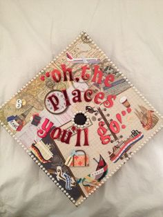 50 Awesome Graduation Cap Decoration Ideas - oh the places you'll go