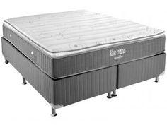 Cama Box Queen Size (Box + Colchão) Ortobom Mola - 59cm de Altura Physical Silver Premium
