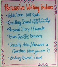 Persuasive Writing Features