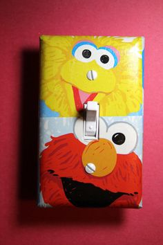 Sesame Street Big Bird and Elmo Light Switch by ComicRecycled, $7.99