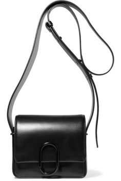Black leather (Calf) Snap-fastening front flap Weighs approximately 2.2lbs/ 1kg