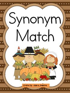 This synonym match is a great activity for whole or small groups and literacy centers.