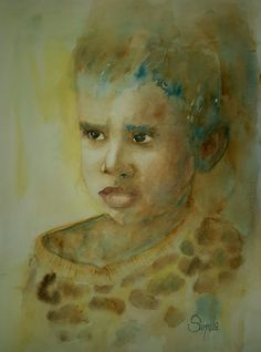 Loneliness, Watercolor 50x60