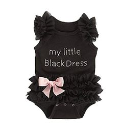 Cinlan Baby Girls Lace Little Black Dress Cotton Bodysuit Black 06months >>> Want additional info? Click on the image. (This is an affiliate link) #BabyGirlBodysuits