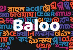 "Check out this @Behance project: ""Baloo (Indian Font Family)"" https://www.behance.net/gallery/41083749/Baloo-(Indian-Font-Family)"