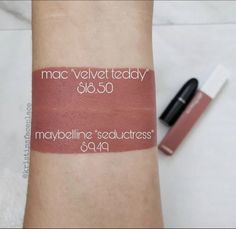 MAC Velvet Teddy Lipstick Dupes - All In The BlushYou can find Mac velvet teddy and more on our website.MAC Velvet Teddy Lipstick Dupes - All In The Blush Mac Cosmetics Lipstick, Maybelline Lipstick, Mac Lipsticks, Mac Dupes, Blush Dupes, Benefit Cosmetics, Eye Makeup, Makeup Dupes, Clown Makeup