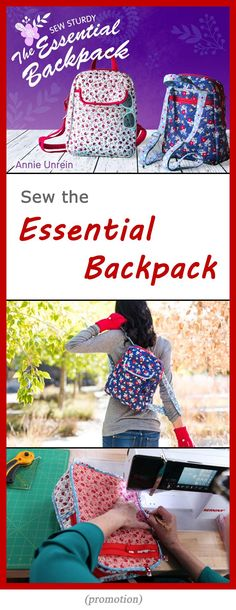 Sew a stylish, durable and professional-quality, quilted backpack with pockets, zippered compartments, a magnetic flap and more. Video class taught by Annie Unrein.