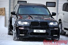 BMW X5 Hamann Tycoon EVO  looking like a beast in the snow!