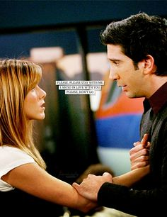 """There is nothing like watching the iconic Ross/Rachel make out sesh for the first time. You know the one I'm talking about, when Rachel learns that Ross was going to take her to prom, in the episode """"The One With The Prom Video."""" Ross and Rachel… Tv: Friends, Friends Moments, I Love My Friends, Friends Forever, Rachel Friends, Friends Trivia, Friends Series, Friends Season, Ross Und Rachel"""