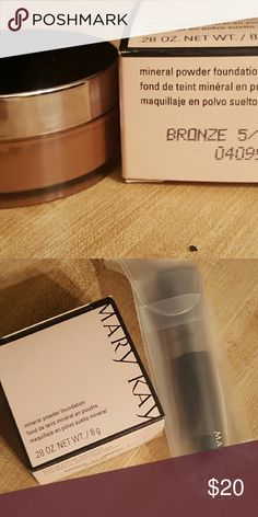 Mary Kay Mineral Powder Foundation Bronze 5 This listing is for a full size container .28 oz.  Includes brush retail $10. Mary Kay Makeup Foundation