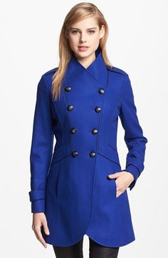 I need this coat, and i need it now!!! GUESS Double Breasted Military Coat available at #Nordstrom.