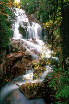 Katahdin Stream Falls, Baxter State Park, Maine Are you planning a trip to Baxter State Park? Take Chimani with you! We develop 100% free mobile app travel guides for national parks and other outdoor destinations. No cell connection required! Download our apps for iOS and Android at http://www.chimani.com or in the App Store or on Google Play #TravelDestinationsUsaMobileApp #TravelDestinationsUsaAndroid