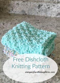 Free Knitting Pattern. Knitted dishcloth pattern. DIY
