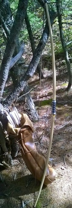 English longbow and arrow bag