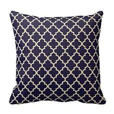 ahartsalestore o11l marroquí Patrón Azul marino decoración funda de almohada cojín 18pulgadas