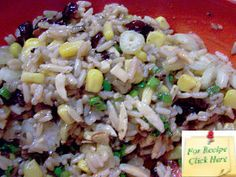 This Wild Rice Salad recipe has a whole range of sweet & tart, soft & crunchy, flavours and texture. Rice Salad Recipes, Wild Rice Salad, Sweet Tarts, How To Make Salad, Vinaigrette, Lighter, Jars, Salads, Range