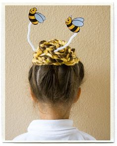 Pin for Later: You've Never Seen Wacky Hair Day Ideas as Crazy as These A Bee's Nest