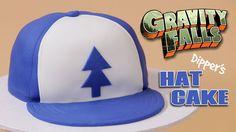 57d4f33fae8 GRAVITY FALLS DIPPER S HAT CAKE - NERDY NUMMIES
