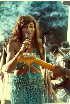 Tina Turner on stage at the Lake Amador Gold Rush Festival, 1969.