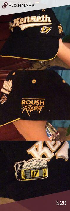 Cap Matt Kenseth NASCAR racing hat with pin. Roush Racing Accessories Hats