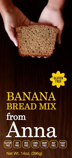 Breads from Anna — Gluten and Yeast Free Banana Bread Mix. Corn, Dairy, Soy, Nut and Rice free too! #glutenfree