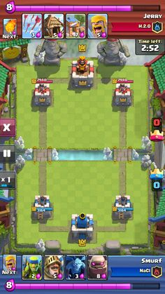 """Clash Royale"" on iOS. Match playback screen."