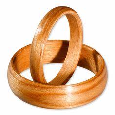Cherry wood rings set. Custom designs.