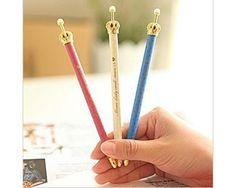 Crown Gel Pen Set - Blue, Red & White (3 pcs) Korean Stationery Kawaii Black Ink Pens E0294 by TinyBees on Etsy https://www.etsy.com/listing/261309256/crown-gel-pen-set-blue-red-white-3-pcs