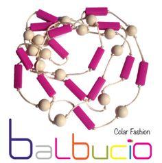 Collier rose beige Balbucio