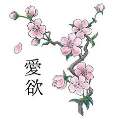 cherry blossom tattos | Pictures of japanese cherry blossom tattoo designs