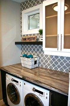 Popular Small Bathroom Remodel Decorating Ideas - Inspiring Home Garage Laundry Rooms, Laundry Room Remodel, Small Laundry Rooms, Laundry Closet, Laundry Room Organization, Laundry Room Design, Small Bathroom, Laundry Room Inspiration, Metal Building Homes